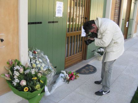 Un'immagine della casa di San Felice, teatro dell'ultima tragica strage nel veronese