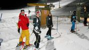 Sciatori a San Giorgio per le discese in notturna durante la scorsa stagione
