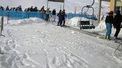Sciatori alla seggiovia di San Giorgio, l'anno scorso