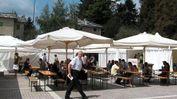 La piazza esterna del Film festival della Lessinia