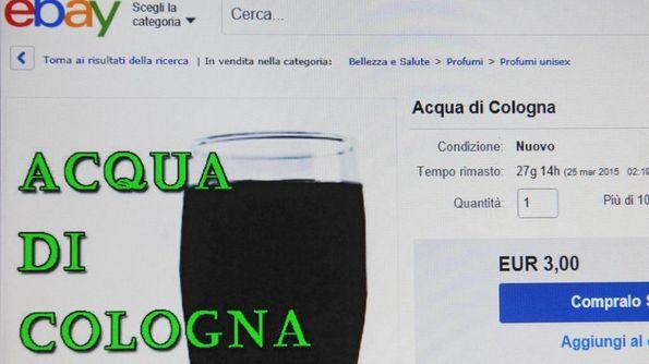 L'«Acqua di Cologna» messa in vendita su E-bay