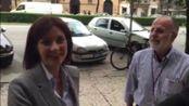 Alessandra Moretti visita la redazione de L'Arena